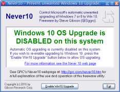 Stop Windows 10 upgrade notifications